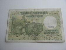 Billet belgique 50 francs-10 Belgas 1938-TB
