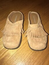HUSH PUPPIES Leather Clogs Fringe Moccasins Flats Loafers Shoes Women Sz 5 #j