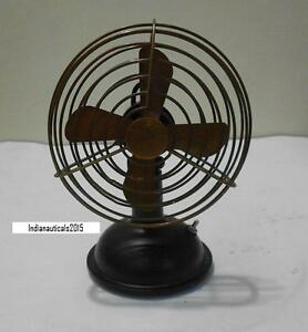 """Vintage Nautical Working Collectable Table Fan in 6"""" Tall Antique Table Fan"""