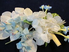 """Vintage Millinery Flower Collection Blue White 1-3"""" German H2921"""