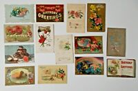 LOT OF 26 HAPPY BIRTHDAY  GREETINGS ANTIQUE  POSTCARDS