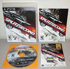 SPLIT SECOND PlayStation 3 Day 1 w/Manual Blackrock Racing Driving Game Disney