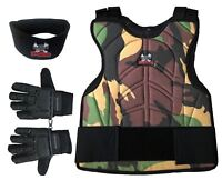 Maddog Chest Protector Tactical Glove Neck Protector Paintball Combo Camo LXL