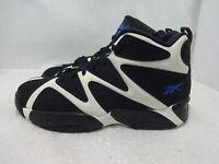 Reebok Kamikaze I Men Size 12 Black White Mid Shawn Kemp Retro Sneakers V61797