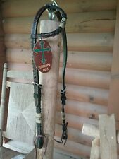 NEW Weaver  *Turquoise Cross*  Rawhide Accented One Ear Leather  Headstall