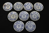 "Set of 9 Vintage Furnivals DRESDEN Blue Onion Pattern 3"" Individual Butter Pats"