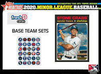 2020 Topps Heritage Minors Team Set Pittsburgh Pirates (7) Swaggerty Hayes Oliva