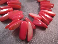 Fuchsia Mother Of Pearl Shell Sticks Beads 88pcs