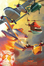 2014 DISNEY PIXAR PLANES 2 FIRE AND RESCUE TEAM POSTER 22x34 NEW FREE SHIPPING