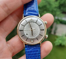 Vintage Jaeger LeCoultre 14K Solid Gold Memovox World Timer Watch 1960's JLC