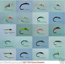 Resina EPOSSIDICA Cicalini trota FLY Fishing Flies 55A x 20 MOSCHE