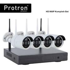 IP Kamera Set 4CH WiFi Wlan Überwachungskamera Cam HD 960p 1,3MP Außen system