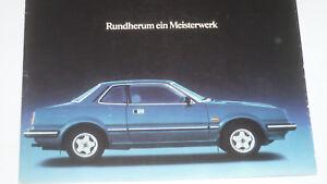 Honda Prospekt Prelude SN Coupe, 1978-1983 , 24 Seiten, Zustand sehr gut