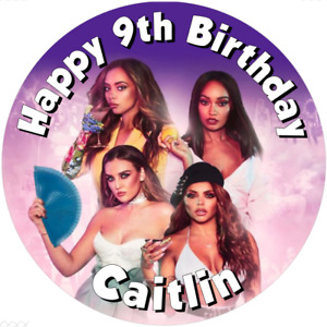 """Little Mix  7.5"""" , 2"""" , 1.5"""" ROUND EDIBLE ICING PRINTED CAKE TOPPER"""