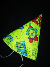 CLOWNHUT enfants Chapeau de pain sucre Hut pour costume Clown NEUF cirque