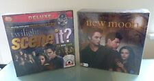 Twilight Scene It Deluxe & Movie Board Game Bundle New Sealed  Gift