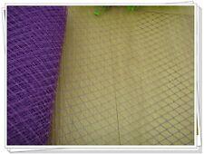 Wedding Birdcage Veil French Purple Netting Veiling Accessorize Trim Hat