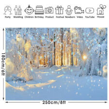 Christmas Theme Snow Trees Photography Background Cloth  Backdrop Party Decor