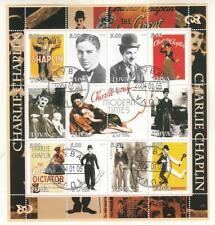 Tuva 2004 Charlie Chaplin sheet Perf. CTO