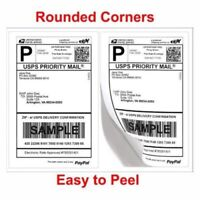 "200-10000 8.5""x5.5"" Round Corner Shipping Labels Half Sheet Self Adhesive Labels"