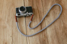 Cool gray Climbing rope 10mm brown leather  handmade Camera neck strap