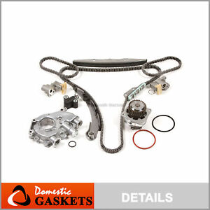 Fit 05-15 Nissan Frontier Pathfinder Xterra 4.0 Timing Kit+Oil&Water Pump VQ40DE