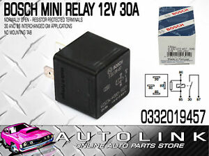 BOSCH 0332019457 MINI RELAY 12V 30A 4PIN NORMALLY OPEN - FOR HOLDEN