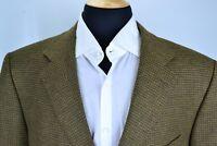 Ermenegildo Zegna Brown Green Houndstooth Cashmere Blend Sport Coat Jacket 46R