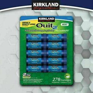 Kirkland Signature Quit Lozenges 2mg Nicotine Polacrilex Mint Flavored