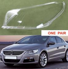 For Volkswagen VW Passat CC 2009- 12 HEADLIGHT GLASS LENS SET PAIR RIGHT + LEFT