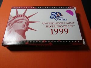 1999-S United States Mint Silver Proof Set #3 - No Reserve OGP & COA