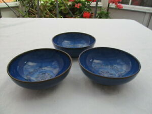 Denby White Midnight Blue 3  Bowls  14.5 cm very good used condition
