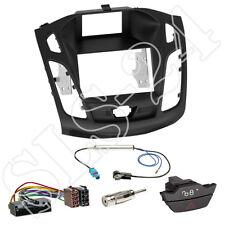Ford Focus DYB ab04/2011 Doppel 2-DIN Blende+ ISO Adapter+ KFZ Warnblinkschalter