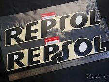 2X BIG HONDA GENUINE REPSOL 50X10cm. CBR 150 250 300 F RA STICKER DECAL EMBLEM