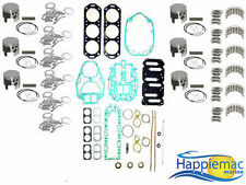 Mercury 2.5L Carb 150 175 200 HP V6 Head Gasket Powerhead Rebuild Kit Piston