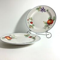 "2 Savoir Vivre 8"" Salad Desert Bread Plates JJ017 LUSCIOUS Strawberry Fruit GUC"