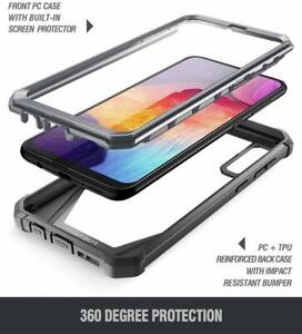 For Samsung Galaxy A50 Case Full Body Shockproof Bumber Clear Hard Cover Black