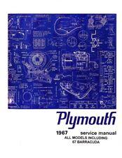 1967 Plymouth Barracuda Belvedere Shop Service Repair Manual