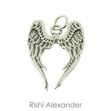 925 Sterling Silver Angel Wings Charm American Made
