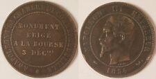 10 Centimes Napoléon III, 1854 W, Chambre de Commerce de Lille, Rare !!