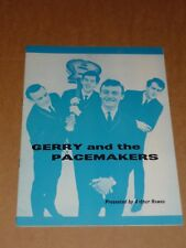Gerry & Pacemakers 1963 Southend Concert Programme(BillyJ.Kramer/Tommy Quickly)
