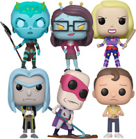 Rick and Morty Set of 6 Pop Bundle Funko Pop Vinyls New in Boxes