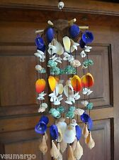 Natural Seashell Wind Chime Colorful - Purple Top