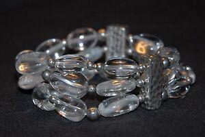 SILPADA - B1600 - Crystal Quartz Oxidized Sterling Silver Stretch Bracelet - RET
