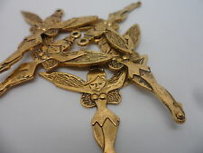 20 Large Fairy~Sprite Charms Pendants,Antique Gold Tone~Bulk Buy crafting 50x45