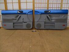 98-10 VW Volkswagen New Beetle BLUE & GRAY Left Right Crank Door Panel Pair SET