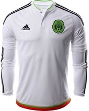 JERSEY  SHIRT ADIDAS MEXICO LONG SLEEVE AWAY WHITE PLAYER ADIZERO SOCCER MENS