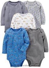 Wholesale Price!! 5-Pack Carter's Baby Boy/Girl Long Sleeve Bodysuit Set