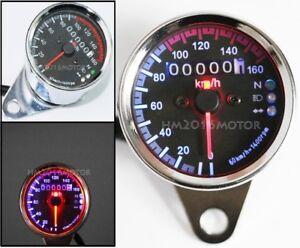 LED Speedometer Turn Signal For Yamaha Kawasaki Honda Suzuki Bike Cafe Racer