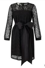 Marella Size 12 Margot Lace Dress Black Shift Dress Evening Rrp £225